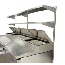 """Atosa MROS-44P Stainless Steel Double Overshelf for 44"""" Pizza Prep Table"""