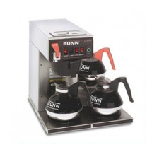 BUNN-12950-0252-12-Cup-Automatic-Coffee-Brewer-with-3-Lower-Warmers-and-Hot-Water-Faucet---120-240V