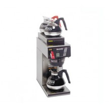 BUNN 12950.0253 12 Cup Automatic Coffee Brewer with 1 Lower and 2 Upper Warmers and a Plastic Funnel - 120/240V