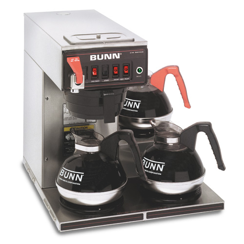 BUNN 12950.0409 Dual Voltage Coffee Brewer with 3 Lower Warmers