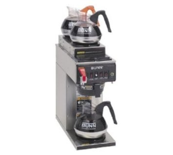 BUNN 12950.0410 Dual Voltage Coffee Brewer with 1 Lower and 2 Upper Warmers