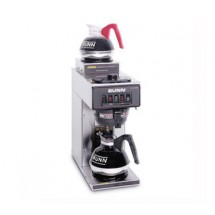 BUNN 13300.0002 Stainless Steel Pourover Coffee Brewer with 1 Lower and 1 Upper Warmer