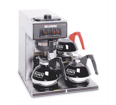 BUNN 13300.0003 Stainless Steel Pourover Coffee Brewer with 3 lower Warmers