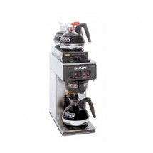 BUNN 13300.0004 Stainless Steel Pourover Coffee Brewer with 1 Lower and 2 Upper Warmers