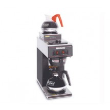 BUNN 13300.0012 Black Pourover Coffee Brewer with 1 Lower and 1 Upper Warmer