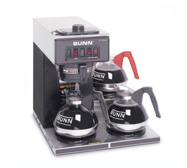 BUNN 13300.0013 Black Pourover Coffee Brewer with 3 Lower Warmers