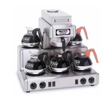 BUNN 20825.0000 12 Cup Automatic Coffee Brewer with 5 Warmers and Stainless Steel Funnel - 120/240V