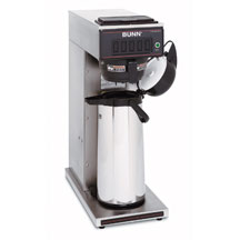 BUNN 23001.0000 Pourover Airpot Coffee Brewer with Plastic Funnel, Stainless Steel
