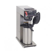 BUNN 23001.0008 Pourover Airpot Coffee Brewer with Hot Water Faucet and Plastic Funnel