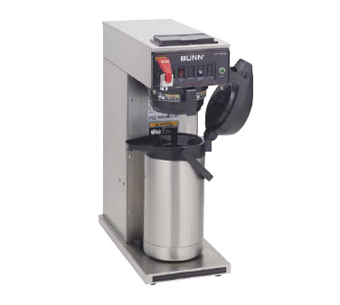 BUNN 23001.0023 Pourover Airpot Coffee Brewer with Hot Water Faucet and Stainless Funnel