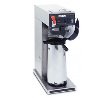 BUNN 23001.0059 Dual Voltage Airpot Coffee Brewer with Black Plastic and Stainless Steel Funnel