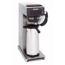 BUNN 23001.0062 Pourover Airpot Coffee Brewer with Gourmet Funnel, Stainless Steel