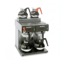 BUNN 23400.0001 Twin 12 Cup Automatic Coffee Brewer with 2 Lower and 2 Upper Warmers