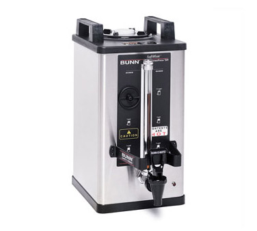 BUNN 27850.0001 1.5 Gallon Single Soft Heat Coffee Brewer with Timer - Stainless Steel