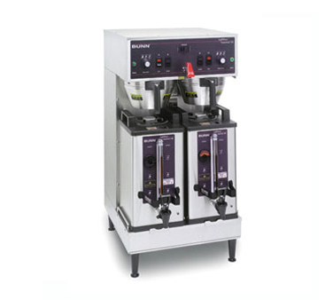 BUNN 27900.0001 Soft Heat Dual Brewer with Docking System - Stainless Steel 120V / 208V