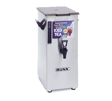 BUNN 3250.0004 4 Gallon Tall Iced Tea / Coffee Dispenser, Square with Solid Lid