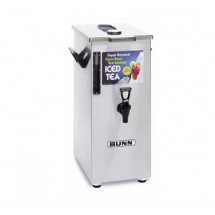 BUNN 3250.0005 4 Gallon Tall Iced Tea / Coffee Dispenser Square, with Brew-Through Lid