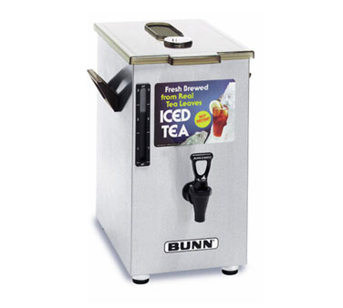 BUNN 3250.0006 4 Gallon Ice Tea Dispenser, Square with Brew-Through Lid