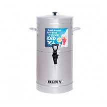 BUNN 33000.0000 3 Gallon Iced Tea / Coffee Dispenser, Cylinder with Stainless Steel Lid
