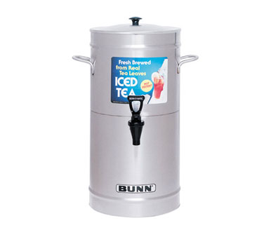 BUNN 33000.0008 3.5 Gallon Iced Tea / Coffee Dispenser, Cylinder with Stainless Steel Lid