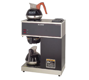 BUNN 33200.0000 Black Pourover Brewer with Plastic Funnel