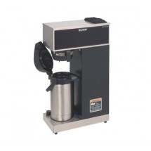 BUNN 33200.0014 Pourover Airpot Coffee Brewer with Plastic Funnel, Airpot Included, Stainles Steel and Black