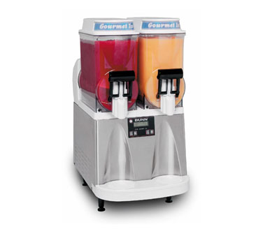 BUNN 34000.0012 Ultra Gourmet Ice Frozen Drink Machine 2 Hoppers - White and Stainless Steel
