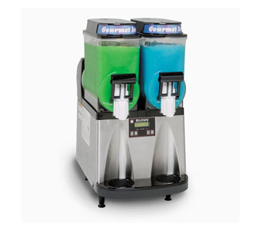 BUNN 34000.0013 Ultra Gourmet Ice Frozen Drink Machine 2 Hoppers - Black and Stainless Steel