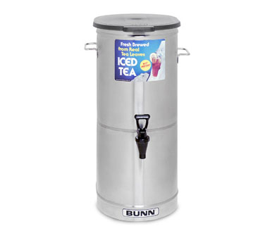 BUNN 34100.0001 5 Gallon Iced Tea / Coffee Dispensers, Cylinder with Solid Plastic Lid