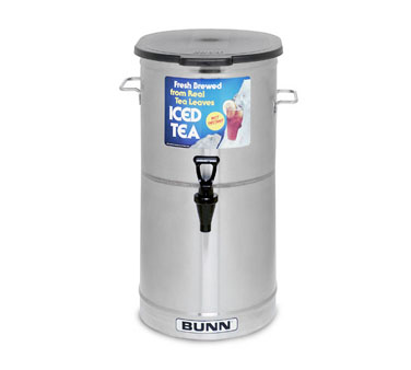BUNN 34100.0002 4 Gallon Iced Tea / Coffee Dispenser, Cylinder with Brew-Through Lid