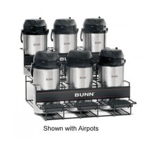 BUNN 35728.0005 Two Tier 6 Pot Universal Airpot Rack