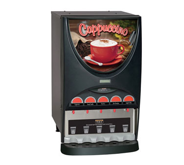 BUNN 37000.0002 Hot Beverage Dispenser with 5 Hoppers - Black