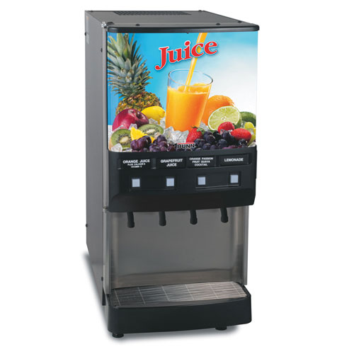 BUNN 37300.0004 4-Flavor Cold Beverage Dispenser with Lit Door
