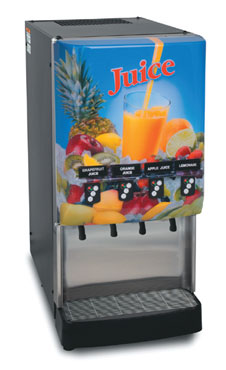 BUNN 37300.0023 4-Flavor Cold Beverage Dispenser with Portion Control and Lit Door