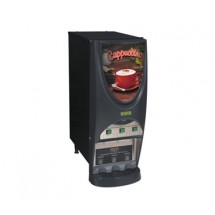 BUNN 38600.0006 Silver Series Hot Beverage Dispenser with 3 Hoppers - Black