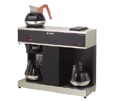BUNN 4275.0031 Pourover Coffee Brewer with 3 Warmers and Plastic Funnel