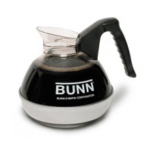 BUNN 6100.0124 POUR-0124 Coffee Decanter 64 oz. with Black Handle (24 Pack)