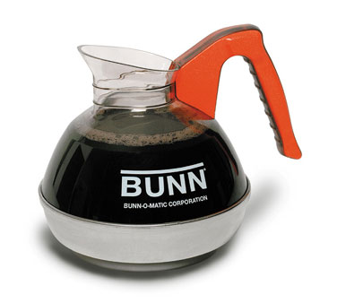BUNN 6101.0102 POUR-OR-0102 Coffee Decanter 64 Oz. with Orange Handle (2 Pack)