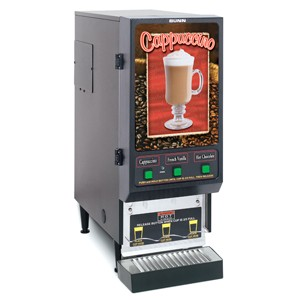 BUNN SET00.0197 Fresh Mix Cappuccino / Espresso Machine with Cafe Lighted Front Display