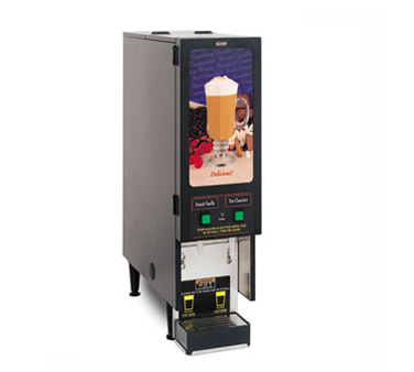 BUNN SET00.0200 Fresh Mix Cappuccino / Espresso Dispenser with 2 Hoppers and Lighted Display - 120V
