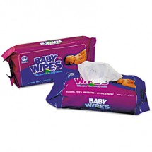 Baby Wipes Refill Pack, 80/Pack, 12 Packs/Carton