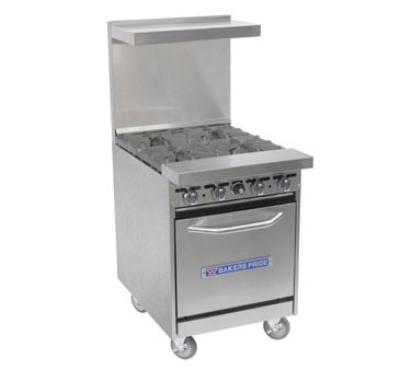 Bakers Pride 24-BP-4B-S20 Restaurant Series (4) 40,000 BTU Burner Gas Range with 1 Standard Oven