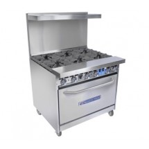 Bakers Pride 36-BP-6B-S30 Restaurant Series (6) 40,000 BTU Burner Gas Range with 1 Standard Oven