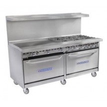 Bakers Pride 60-BP-10B-S26 Restaurant Series (10) 40,000 BTU Burner Gas Range with 2 Standard Ovens