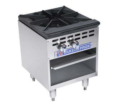Bakers Pride BPSP-18-2 Restaurant Series 90,000 BTU Stockpot Single Burner Gas Range