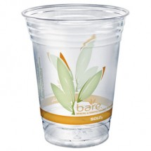 Dart Bare Eco-Forward RPET Cold Cups, 16-18 oz., Clear, 50/Pack