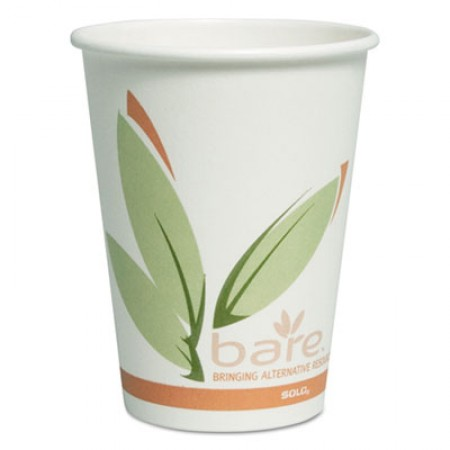 Bare by Dart Eco-Forward Recycled Content PCF Paper Hot Cups, 12  oz., 300/Carton
