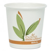 Bare by Dart Eco-Forward Recycled Content PCF Paper Hot Cups, 4  oz., 1000Carton
