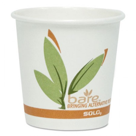 Bare by Dart Eco-Forward Recycled Content PCF Paper Hot Cups, 8  oz., 1000Carton