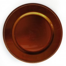 """Beaded Charger Plate-Copper 13"""""""
